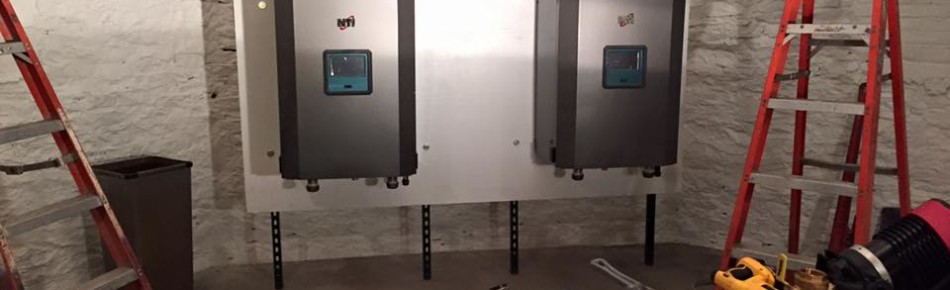 These are two boilers that we installed in a church