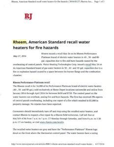Rheem recall PG 1